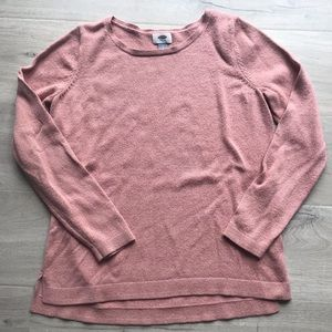 Old Navy Pink Rose Gold Crew Neck Sweater Large